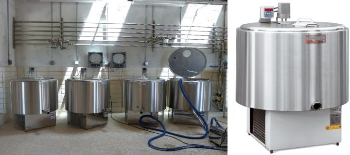 Milk bulk tanks